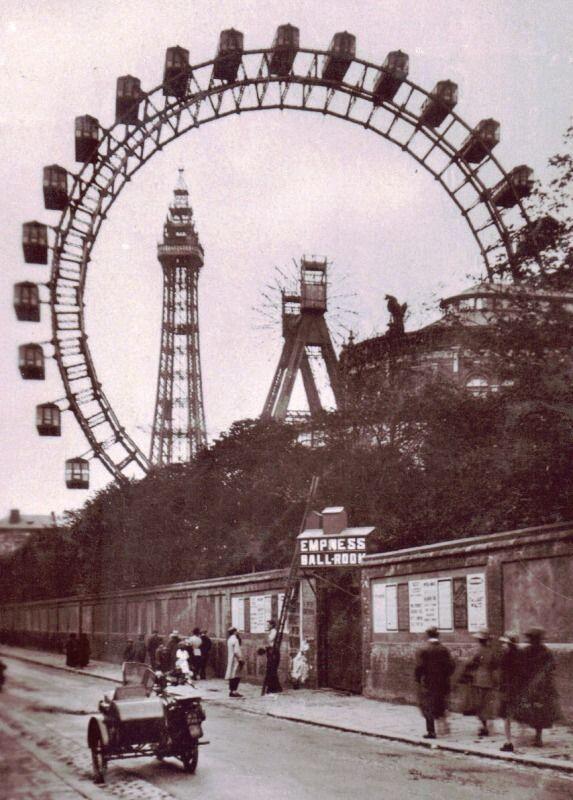 Blackpool Giant Wheel by Walter Basset, circa 1910. #Blackpool pic.twitter.com/33BrZ51EaN