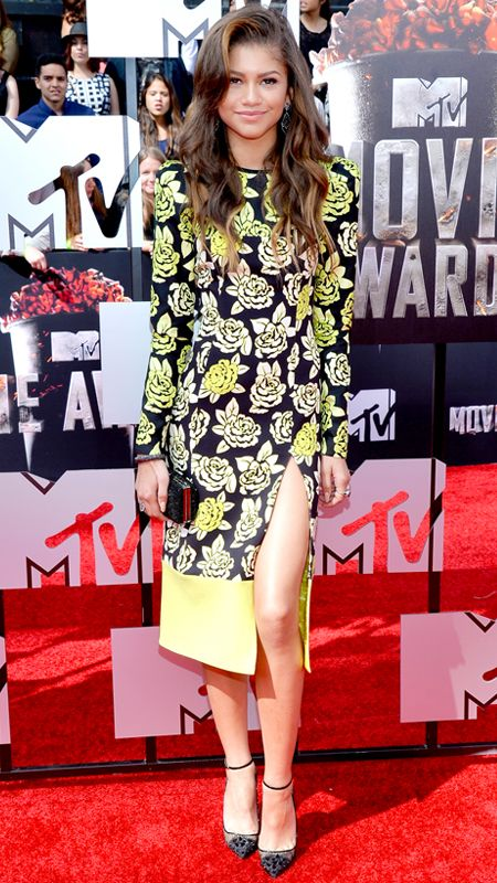 MTV Movie Awards 2014 Red Carpet - Zendaya Coleman from #InStyle.  Oscar de la Renta Bridal Spring 2015