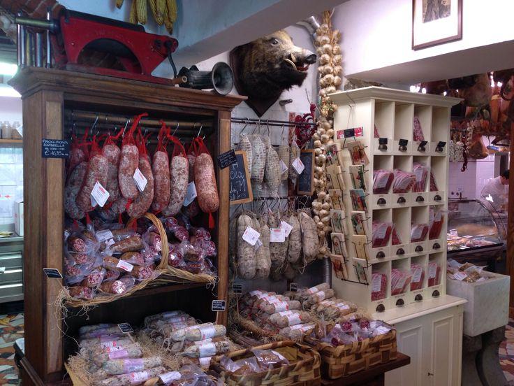 Classic butcher in Toscane