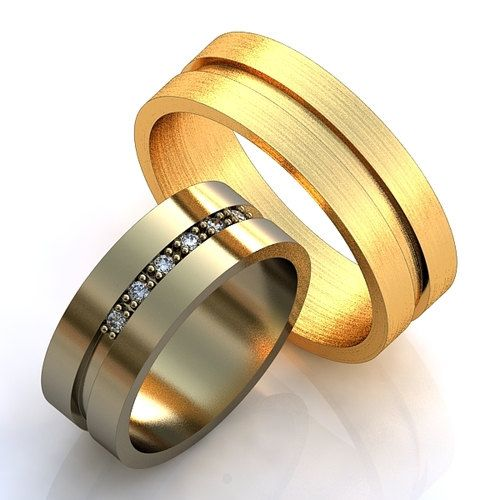 Classical Wedding Bands Wedding Rings with Diamonds by WorldOfGold