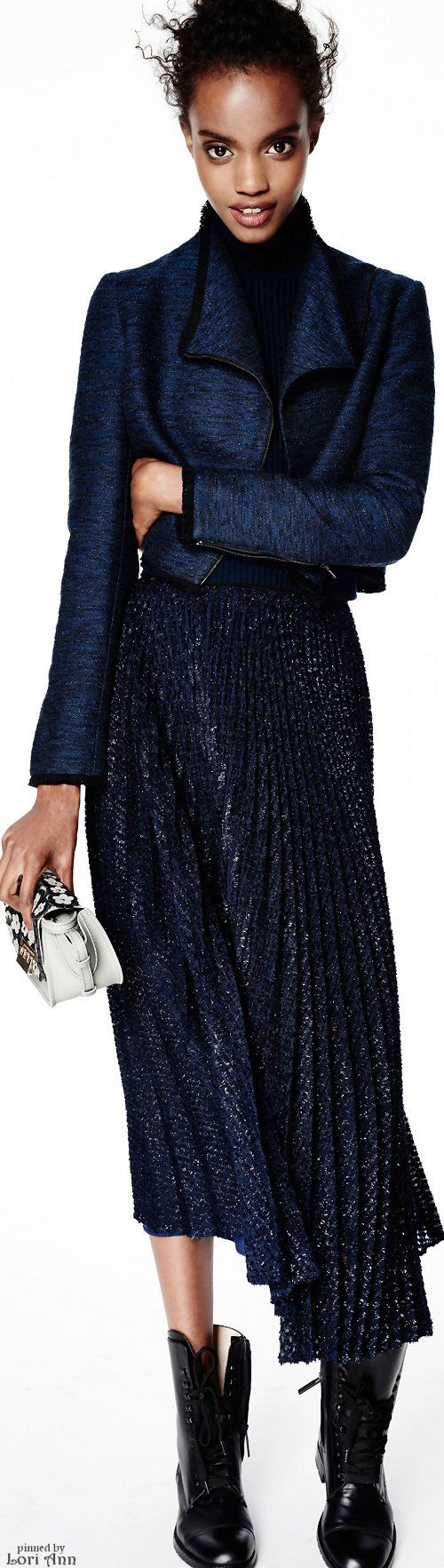 Trending Fall 2016 - Pleated Metallic Skirts (image features: ZAC Zac Posen Pre-Fall 2016)