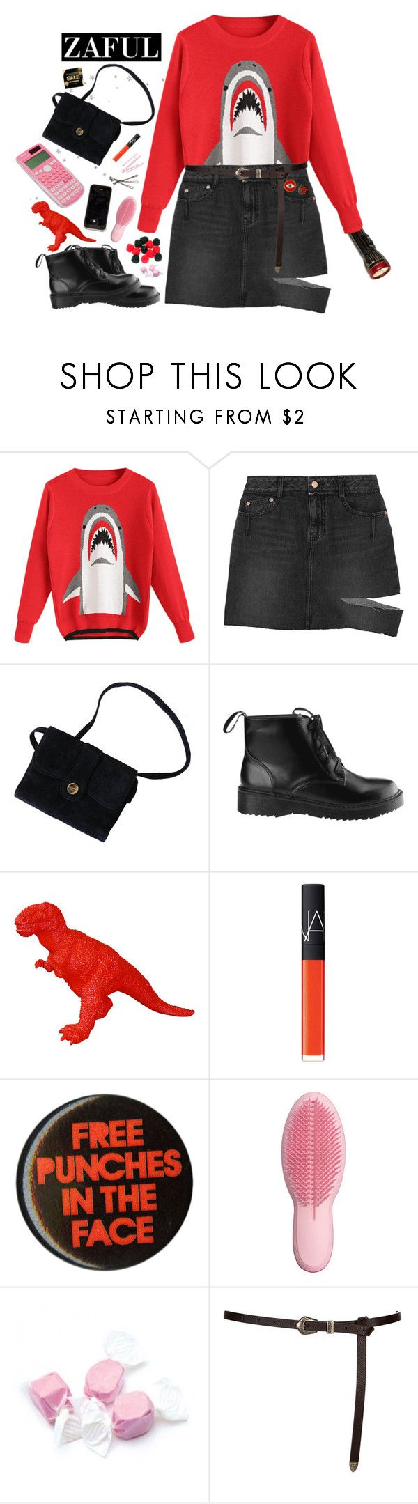 """""""Shark"""" by lsaroskyl ❤ liked on Polyvore featuring SJYP, CO, NARS Cosmetics, BOBBY, Tangle Teezer, Salt Water Sandals and Casio"""