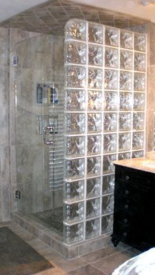 glass block walls in bathrooms | glass block is an elegant versatile and a strong building material ...