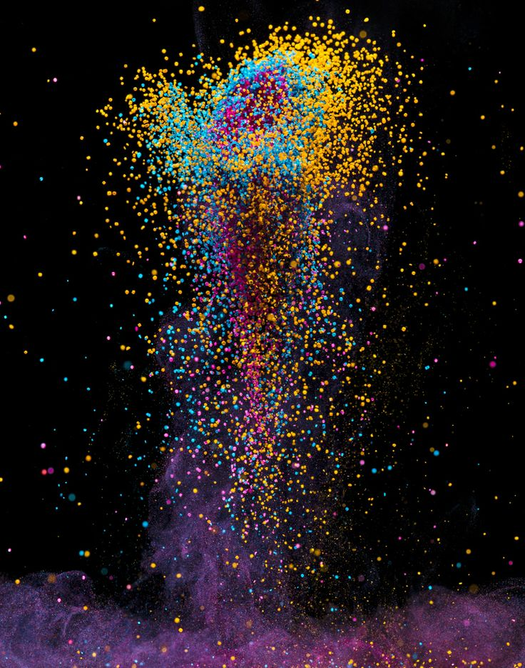 """Dancing Colors """"The Pillar"""" (2013) This is a visualization of sound. Colored crystals leap from the surface of a speaker as it emits sound w..."""