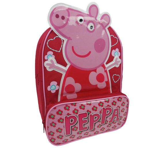 Buy Peppa Pig Backpack - Pink at Argos.co.uk, visit Argos.co.uk to shop online for Childrens luggage, Backpacks and sports bags, Bags, luggage and travel, Sports and leisure
