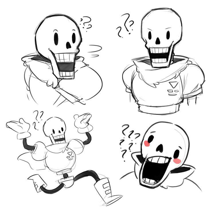 Papyrus Is Really Hard To Draw Undertale Fan Art