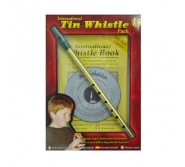 Irish Whistle in D, with Book & CD