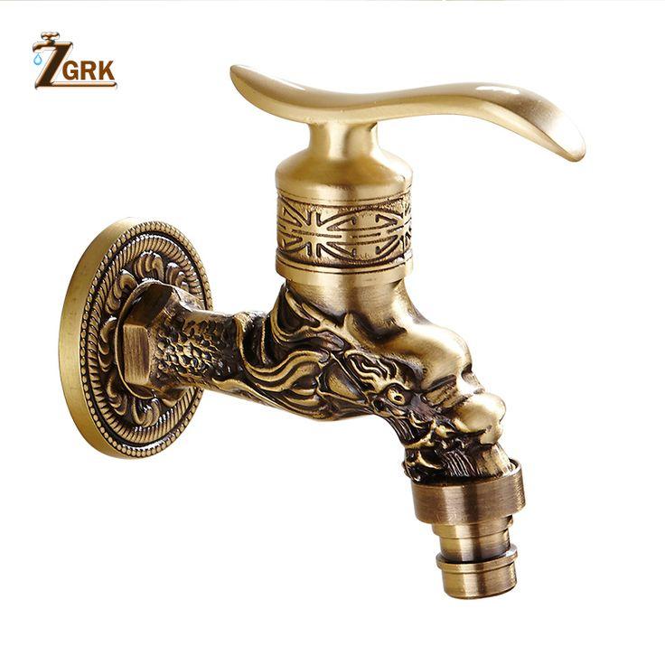 Zgrk Bathroom Faucet Brass Tap Kitchen Outdoor Garden Taps Washing