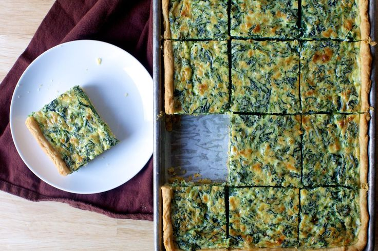 spinach sheet pan quiche | smittenkitchen.com
