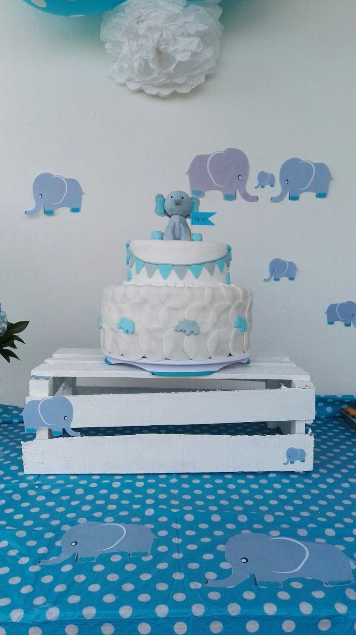 Pastel de baby shower #boy #babyshower #blue