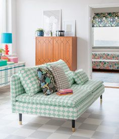 Söderhamn 3 seater sofa cover - Big Waves Aqua/White