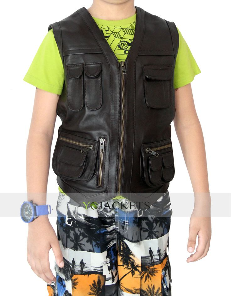 "CHRIS PRATT OWEN JURASSIC WORLD VEST FOR KIDS.  https://plus.google.com/u/1/109582621563617423995/posts/PUVZVzYfERp  The blockbuster Hollywood movie ""JURASSIC WORLD"". This is an outstanding outwear for kids to bring to improve audacity and bravery in your kids. And we Are Giving this jacket in So much discounting price..  #100%RealLeather #LeatherOutfit #Fashion #MenOutfit #MenFashion #clothing #Costume #StyleMens #MenClothing"