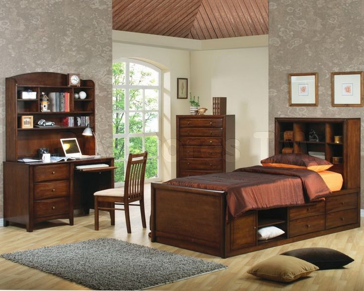 Solid Wood Children Bedroom Sets With Wood Floor And Drawing Art Painted  Wall Bedroom Design   Children Bedroom Sets For Maximum Bed Time