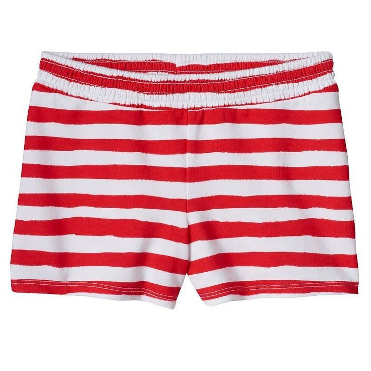 Girls Jumping Beans Patriotic Smocked Shorts, Red/White, 6 #JumpingBeans