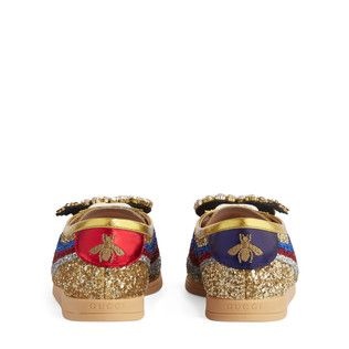 Falacer glitter sneaker with Web Detail 3