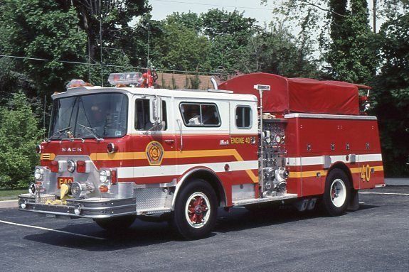 Paxtang PA Engine 40 1980 Mack CF Pumper - Fire Apparatus Slide