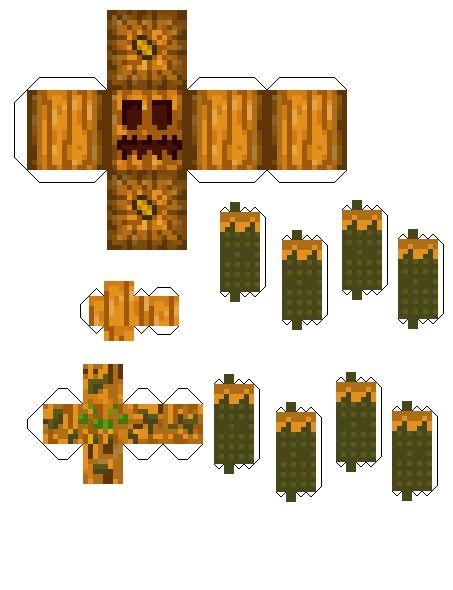 Papercraft Pumpkin Spider Pumpkin Patch Mod Minecraft