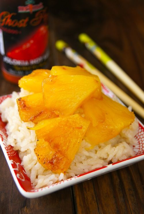 Post image for Ghost Pepper Jolokia Caramelized Pineapple with Coconut Sticky Rice