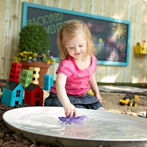 Diy Children S Play Pond Learn How We Converted A Water Heater Drip Pan Into The Perfect Place