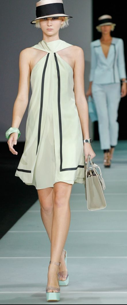 Emporio Armani, Spring 2012 ... office look but definitely with a jacket