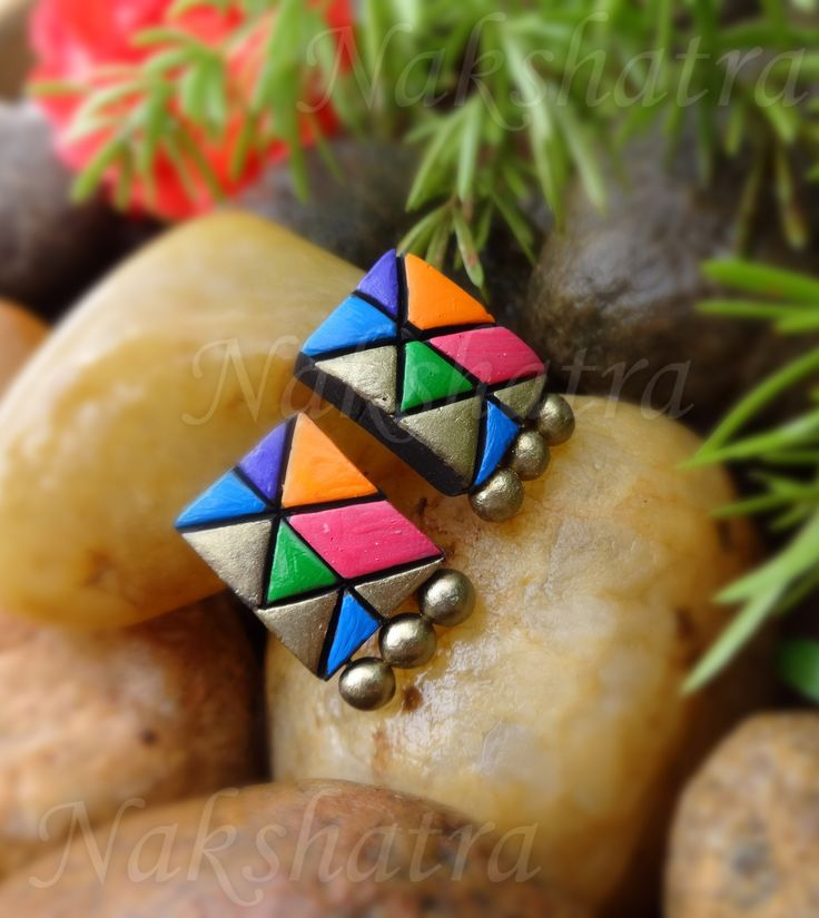 Terracotta tiny stud-Jewellery-Nakshatra - Terracotta Jewellery
