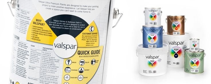 Packaging Design - Valspar Paint   bluemarlin Brand Design