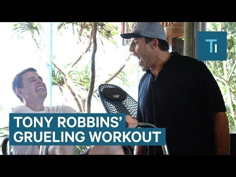 Tony Robbins' workout routine is 15 minutes of pure torture - YouTube