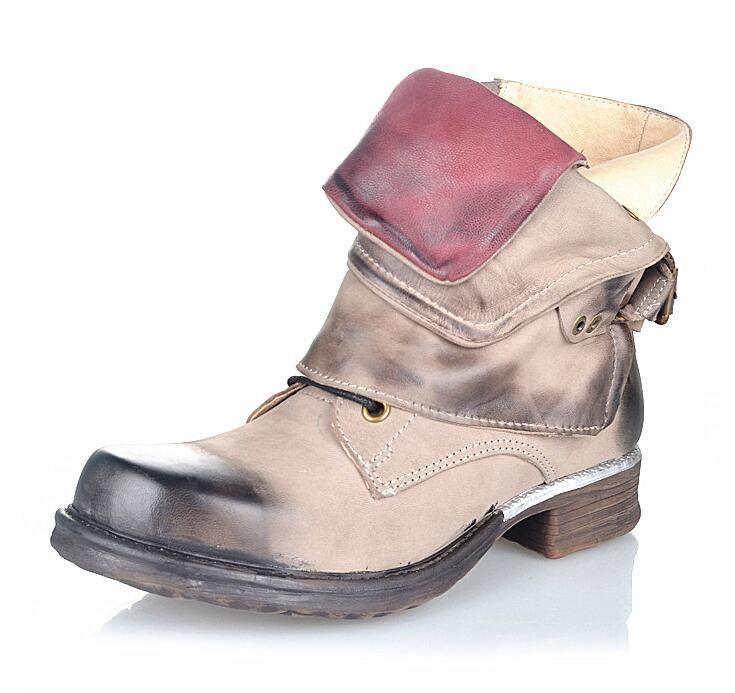 <b>Prova Perfetto</b> New Fashion <b>Women Martin</b> Boots Retro Flat ...