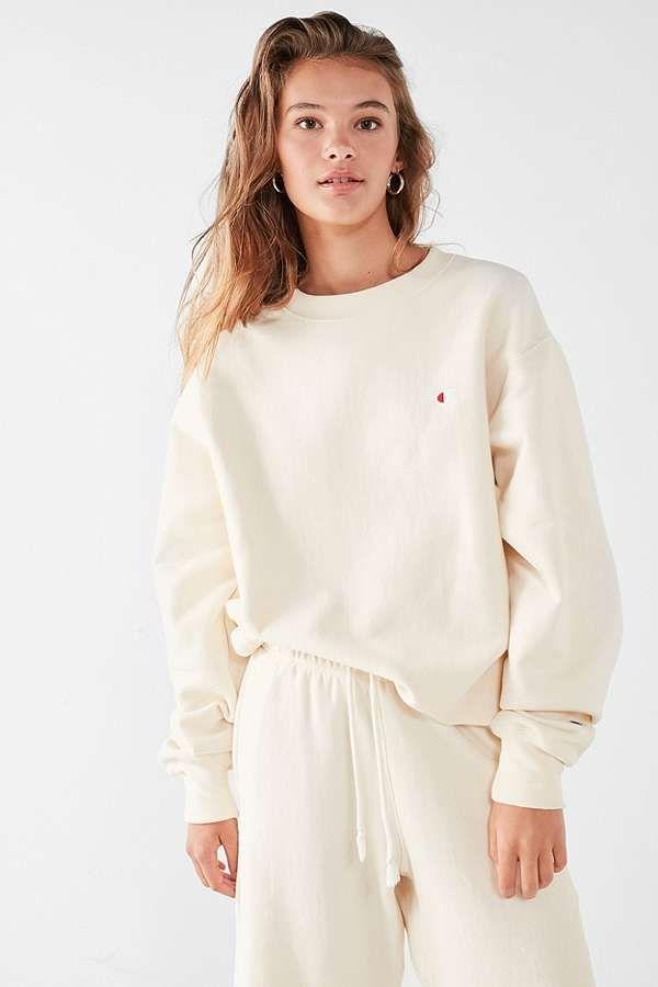 Champion & UO Cream Reverse Weave Pullover Sweatshirt
