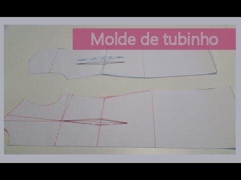 Esse vídeo mostra a modelagem do tubinho básico a partir do molde de corpinho. O tubinho é um vestido sem recorte na cintura. Link para tabela de medidas: ht...