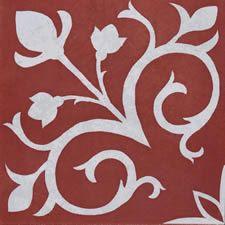 artisan tile Vienna Crimson