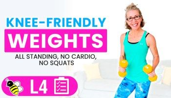30 minute kneefriendly burn  tone workout for women over
