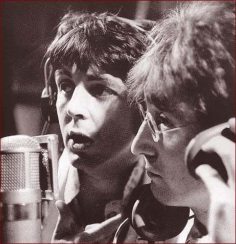 Behind the scenes with Paul McCartney and John Lennon.