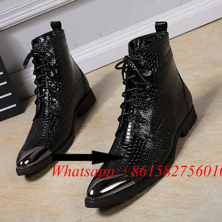 ==> [Free Shipping] Buy Best Warm Plush Designer Shoes Formal Boots Winter Military boots Motorcycle Knight Chaussure Homme Black Serpentine Zapatos Hombre Online with LOWEST Price | 32801315655
