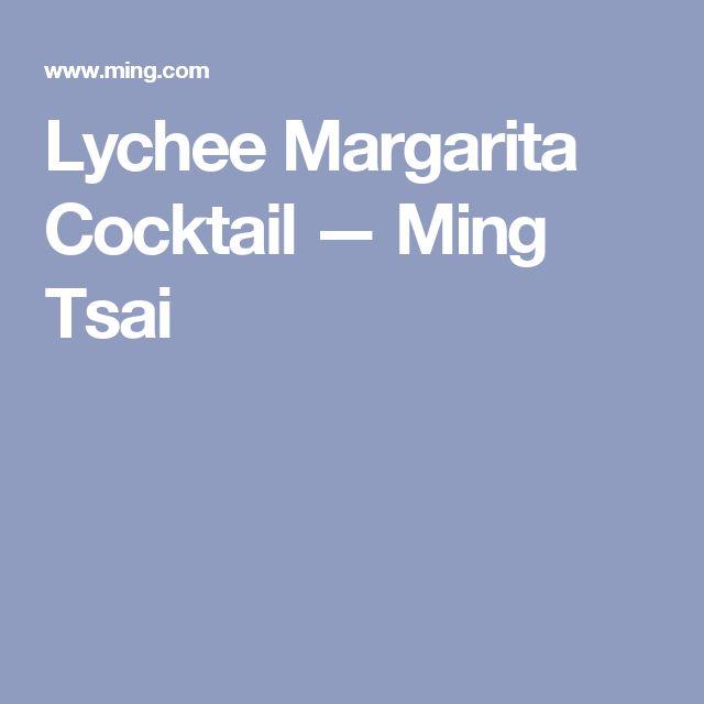 Lychee Margarita Cocktail — Ming Tsai