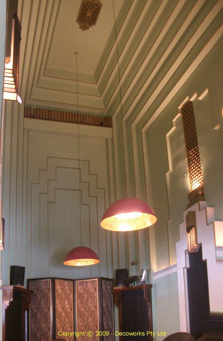 Art deco interior of kinselas chapel sydney deco down for Deco interiors