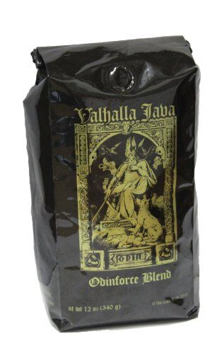 Valhalla Java Whole Bean Coffee by Death Wish Coffee Company, Fair Trade and Organic 12 ounce - http://teacoffeestore.com/valhalla-java-whole-bean-coffee-by-death-wish-coffee-company-fair-trade-and-organic-12-ounce/