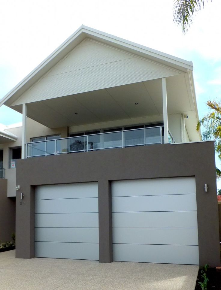Aluminium Composite With 1 Insert. Architectural Garage Door Series.  Manufactured From A Combination Of
