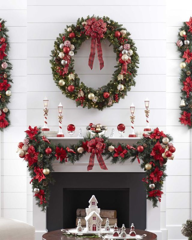 Country Christmas Mantels: 428 Best Christmas Inspirations Images On Pinterest