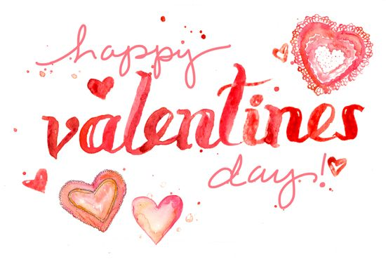 #happy #valentines #day  I water colour