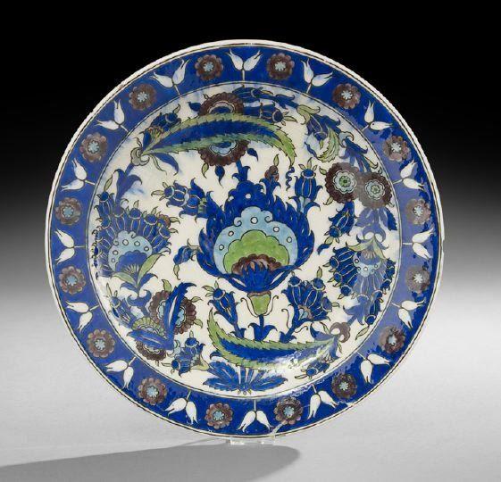 Iznik-Style Glazed Pottery Charger