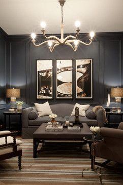 Bachelor Pad - contemporary - family room - baltimore - Elizabeth Reich