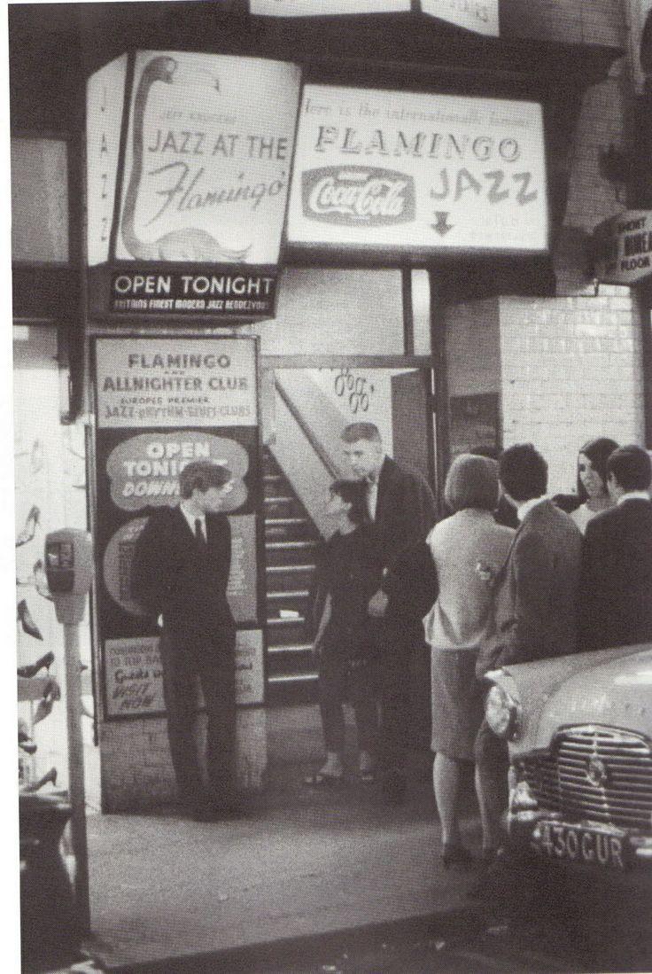 The Flamingo Jazz Club in London. http://en.wikipedia.org/wiki/Flamingo_Club_(London). 33-37 Wardour Street