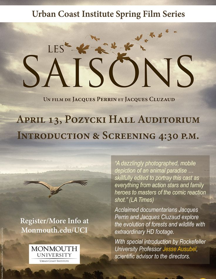 Screening at Pozycki Hall Auditorium at Monmouth University April 13th at 4:30 p.m. For more information visit: https://www.monmouth.edu/uci/blog/default.aspx#Films