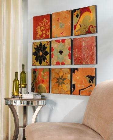 Kirklands Paragould Canvas Print Set Of 9 8999 For Dining Room