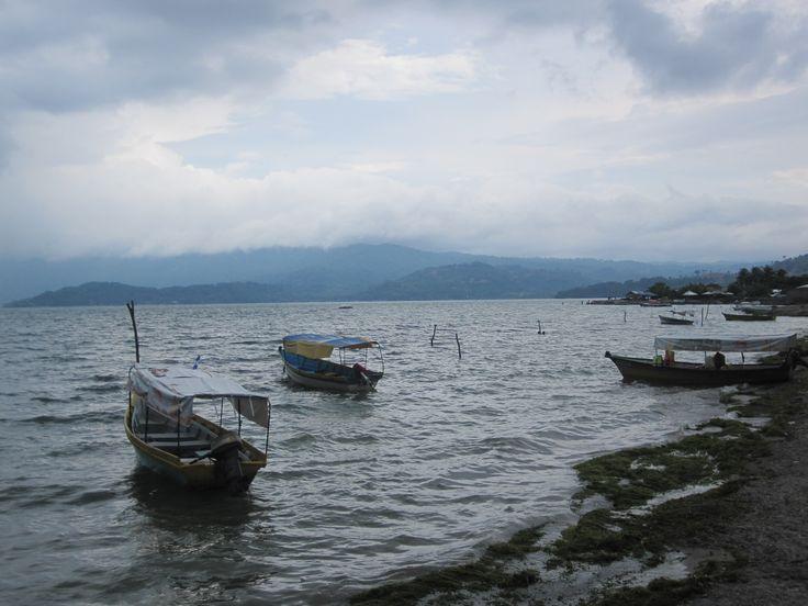 The boats in Lake Ilopango