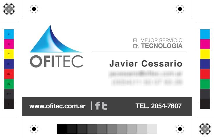 tarjetas personales  Ofitec.com.ar