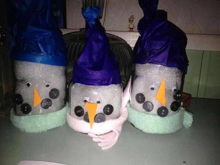 Snowmens! Lumiukot lasten kanssa.