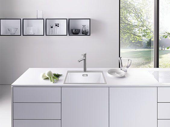 BLANCO SUBLINE 500 IFA SteelFrame, White, Kitchen Sink