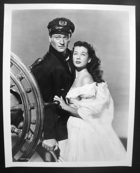 Gail Russell & John Wayne in the Wake of the Red Witch